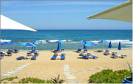 Adelianos Campos: Beach in front of the ''Blue Sky'' beach bar